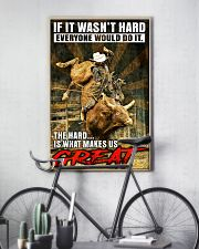 Bull Riding - MAKE US GREAT 11x17 Poster lifestyle-poster-7