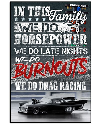 We Do Drag racing Poster