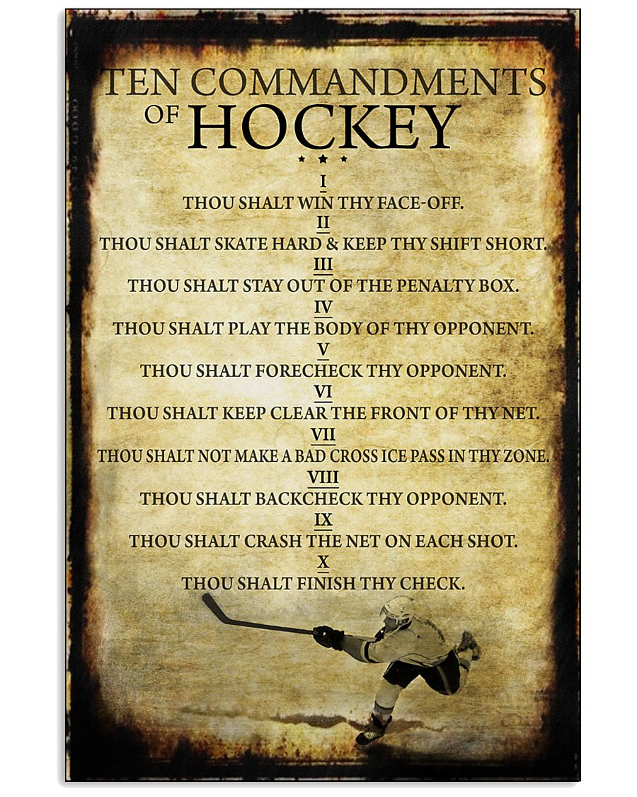 HOCKEY TEN COMMANDMENTS 11x17 Poster