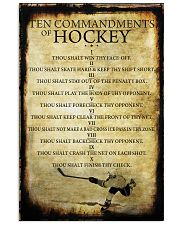 HOCKEY TEN COMMANDMENTS 11x17 Poster front