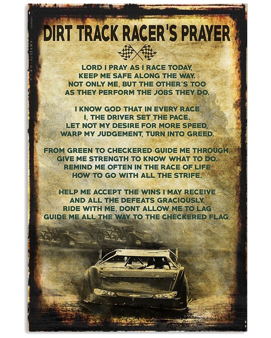 Dirt Track Racer's Prayer Poster 11x17 Poster