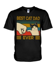 BEST CAT DAD EVER V-Neck T-Shirt thumbnail