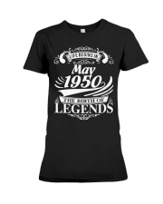 LIFE BEGINS IN MAY 1950 Premium Fit Ladies Tee thumbnail
