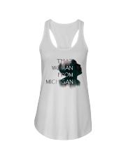 that woman from michigan shirt Ladies Flowy Tank thumbnail