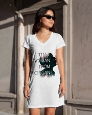 that woman from michigan shirt All-over Dress aos-dress-front-lifestyle-1
