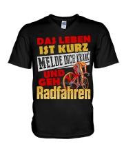 Radfahren V-Neck T-Shirt thumbnail