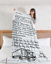 "Trucker's Mom Premium Large Fleece Blanket - 60"" x 80"" aos-coral-fleece-blanket-60x80-lifestyle-front-11"