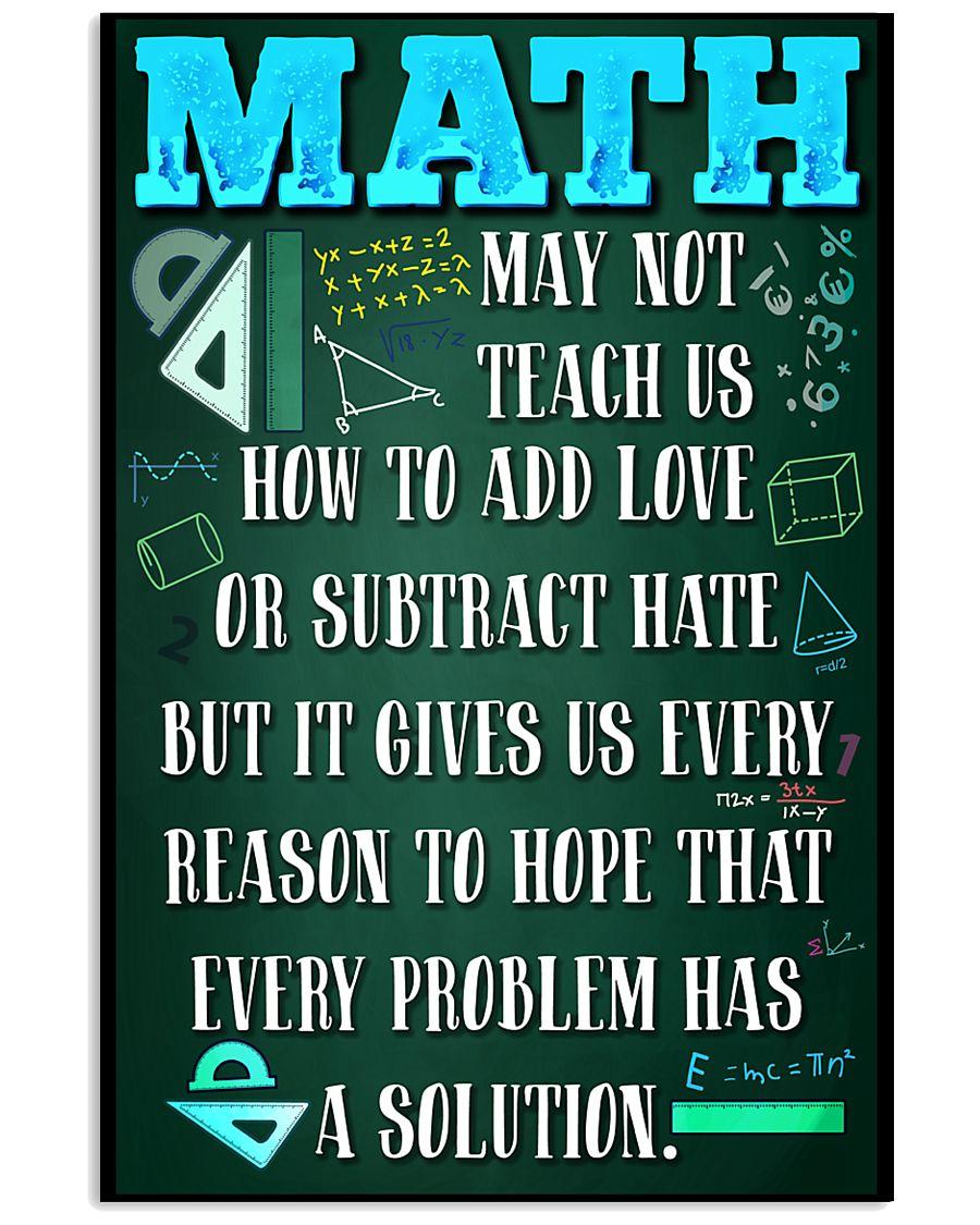 MATH TEACHER - PREMIUM 11x17 Poster