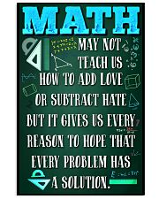 MATH TEACHER - PREMIUM 11x17 Poster front