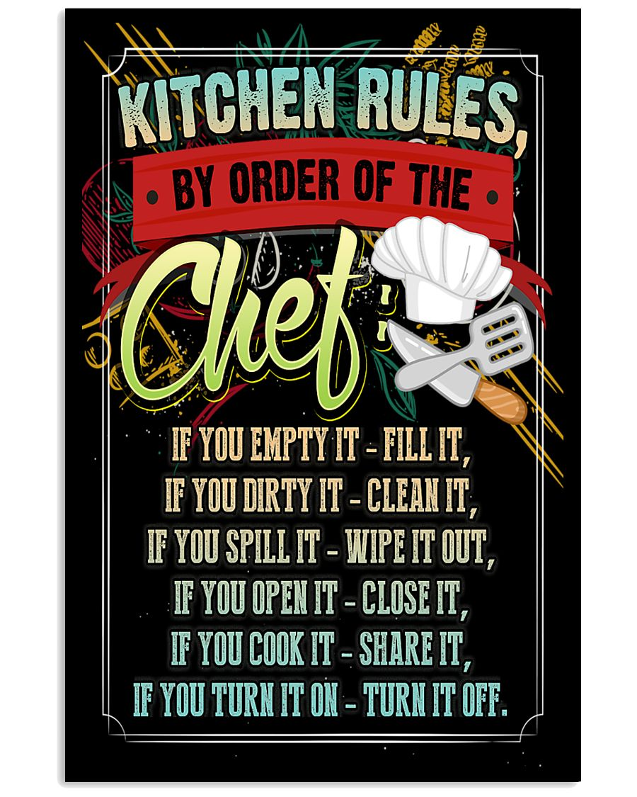 KITCHEN RULES - PREMIUM 11x17 Poster
