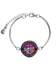 PERFECT GIFT FOR A FIREFIGHTER'S DAUGHTER Metallic Circle Bracelet front