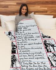 """WELDER'S Mom Premium Large Fleece Blanket - 60"""" x 80"""" aos-coral-fleece-blanket-60x80-lifestyle-front-05"""