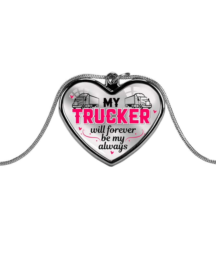TRUCKER'S GIRL - PREMIUM Metallic Heart Necklace