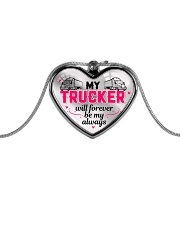TRUCKER'S GIRL - PREMIUM Metallic Heart Necklace front