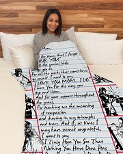 "WELDER'S Mom Premium Large Fleece Blanket - 60"" x 80"" aos-coral-fleece-blanket-60x80-lifestyle-front-05"