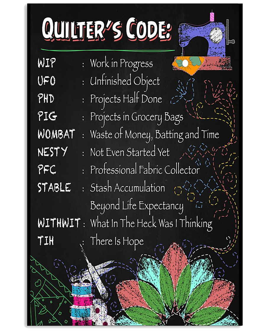QUILTER'S CODE 11x17 Poster