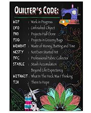 QUILTER'S CODE 11x17 Poster front