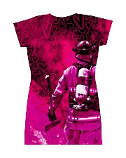 FIREFIGHTER'S WIFE All-over Dress back
