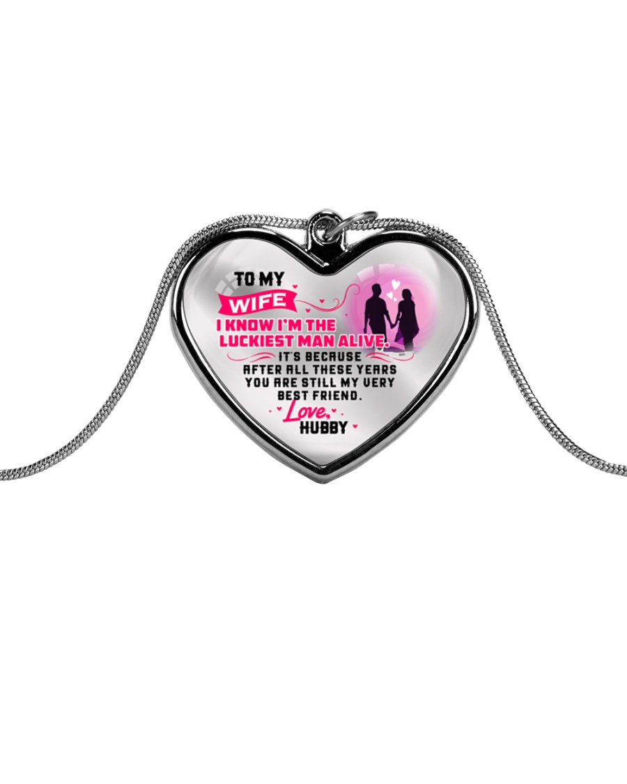 WIFE - PREMIUM Metallic Heart Necklace