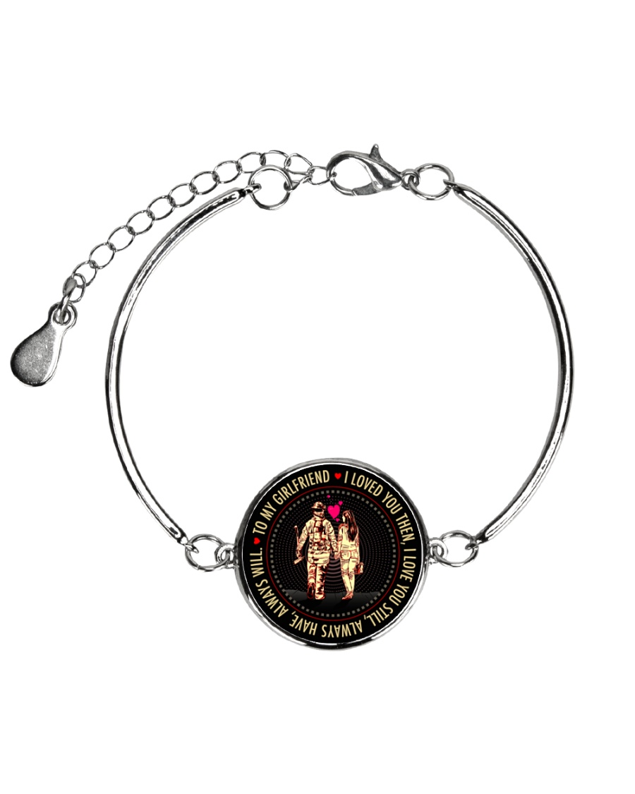 PERFECT GIFT FOR A  FIREFIGHTER'S GIRLFRIEND Metallic Circle Bracelet