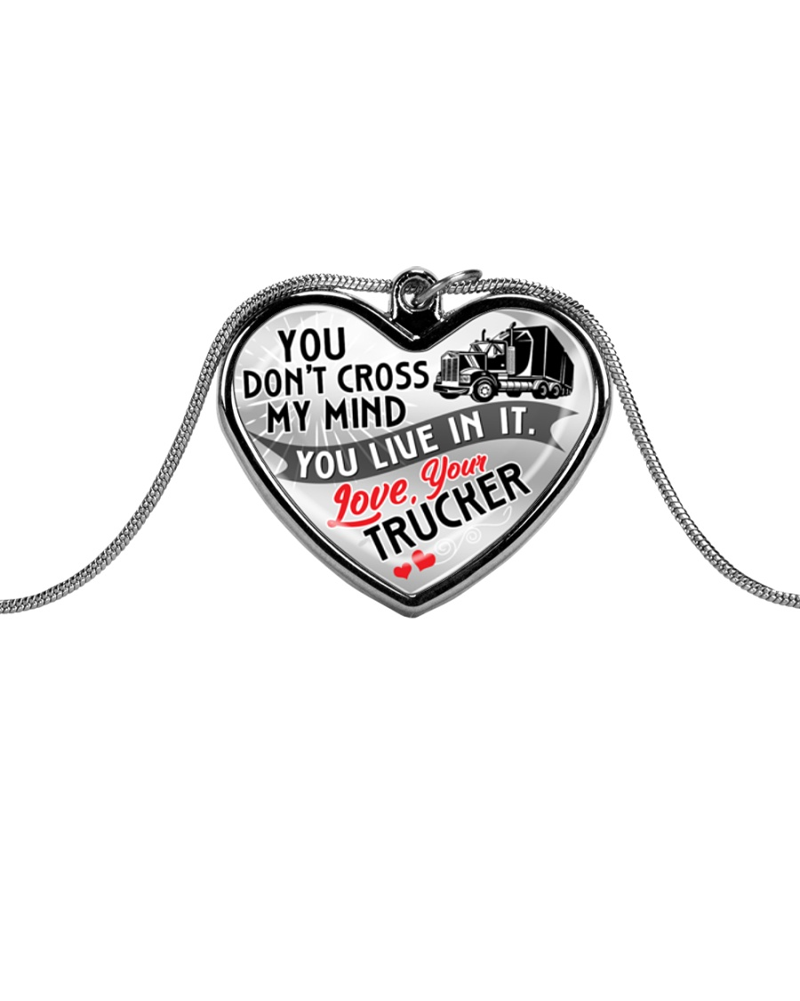 TRUCKER'S  WIFE - PREMIUM Metallic Heart Necklace
