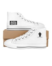 BLM Unisex Taylor All Star Women's High Top White Shoes inside-left-outside-left