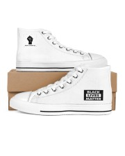 BLM Unisex Taylor All Star Women's High Top White Shoes outside-right-inside-right
