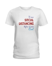 Social Distancing is Cool Ladies T-Shirt thumbnail