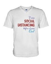 Social Distancing is Cool V-Neck T-Shirt thumbnail