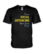 Social Distancing is Cool V-Neck T-Shirt thumbnail