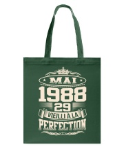 Mai 1988 Tote Bag front