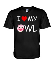 I LOVE MY OWL V-Neck T-Shirt thumbnail