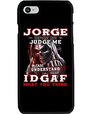 Jorge - IDGAF WHAT YOU THINK M003 Phone Case thumbnail