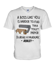 A BOSS LIKE YOU IS HARDER TO FIND CUSTOM GIFT V-Neck T-Shirt thumbnail
