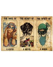 SOUL OF GYPSY HEART OF A HIPPIE SPIRIT OF A NURSE 36x24 Poster front
