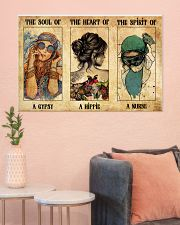 SOUL OF GYPSY HEART OF A HIPPIE SPIRIT OF A NURSE 36x24 Poster poster-landscape-36x24-lifestyle-18