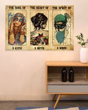 SOUL OF GYPSY HEART OF A HIPPIE SPIRIT OF A NURSE 36x24 Poster poster-landscape-36x24-lifestyle-22