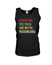Quinton The man The myth The bad influence Unisex Tank thumbnail