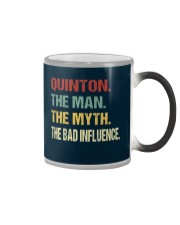 Quinton The man The myth The bad influence Color Changing Mug thumbnail
