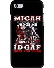 Micah - IDGAF WHAT YOU THINK M003 Phone Case tile