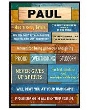 Paul - PT01 24x36 Poster front