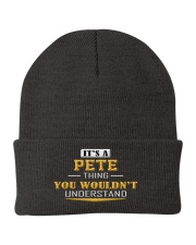 PETE - THING YOU WOULDNT UNDERSTAND Knit Beanie thumbnail