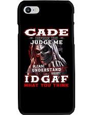 Cade - IDGAF WHAT YOU THINK M003 Phone Case thumbnail