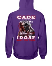 Cade - IDGAF WHAT YOU THINK M003 Hooded Sweatshirt thumbnail