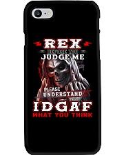Rex - IDGAF WHAT YOU THINK M003 Phone Case thumbnail