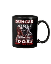 Duncan - IDGAF WHAT YOU THINK M003 Mug front