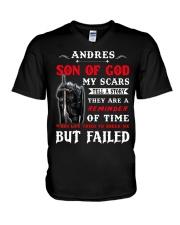 Andres - Son Of God V-Neck T-Shirt thumbnail