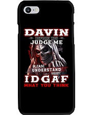 Davin - IDGAF WHAT YOU THINK M003 Phone Case thumbnail