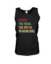 Brice The man The myth The bad influence Unisex Tank thumbnail