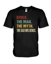 Brice The man The myth The bad influence V-Neck T-Shirt thumbnail